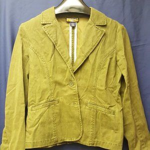 Havana Jacks Cafe muted Green Jacket Excel Cond 12